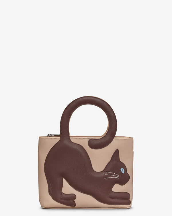 Muddy The Cat Leather Grab Bag