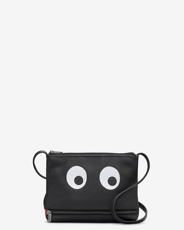 Hungry Eyes Leather Cross Body Bag