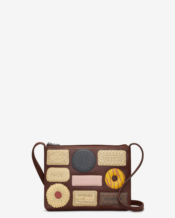 Teatime Favourites Leather Cross Body Bag