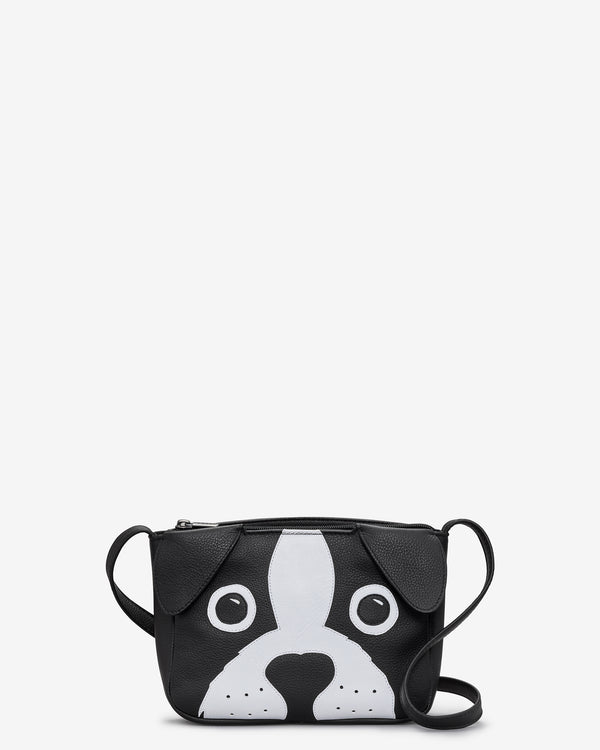Max the Dog Leather Cross Body Bag