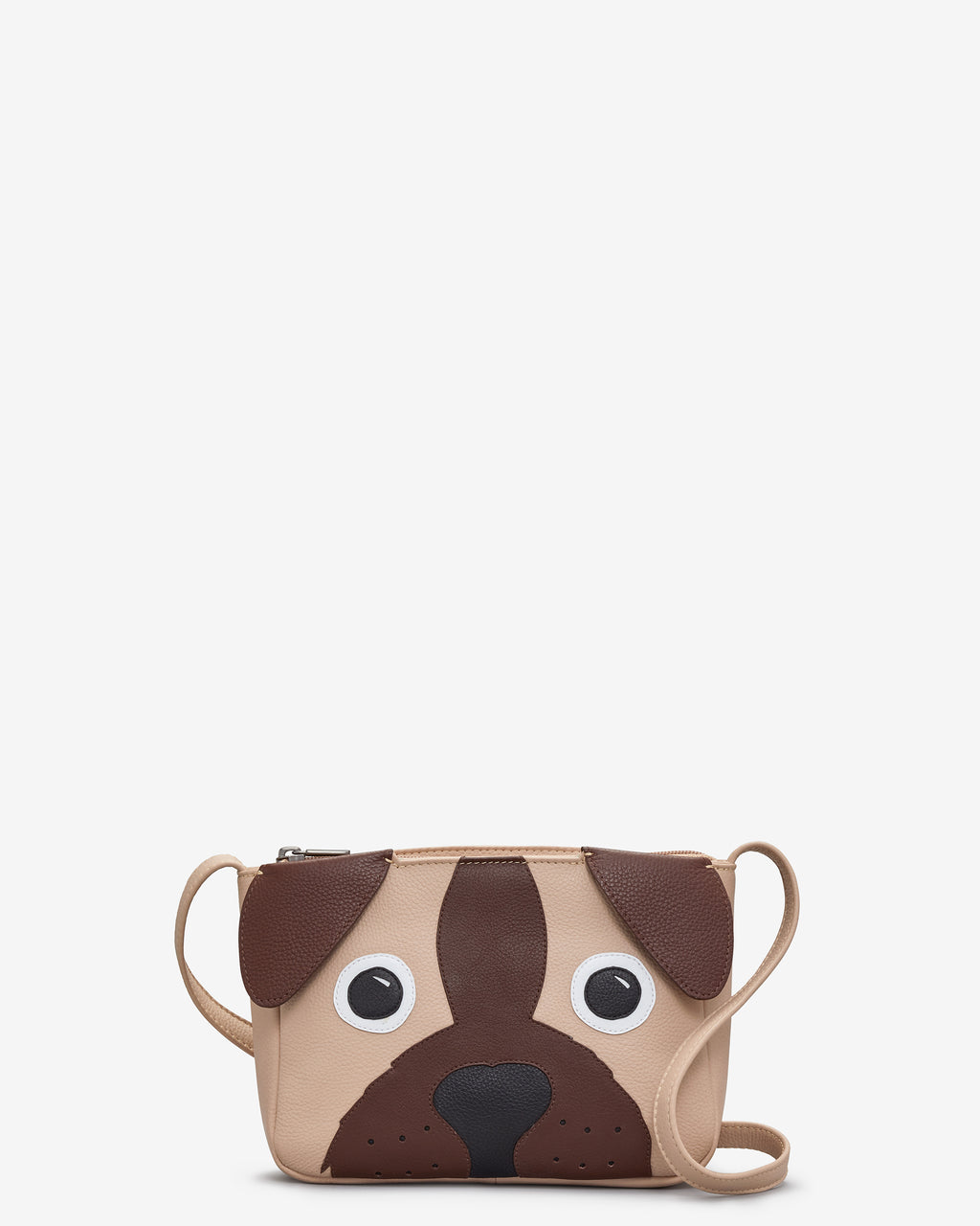 Percy the Pug Leather Cross Body Bag