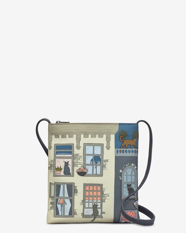 Purrfect Neighbours Leather Cross Body Bag