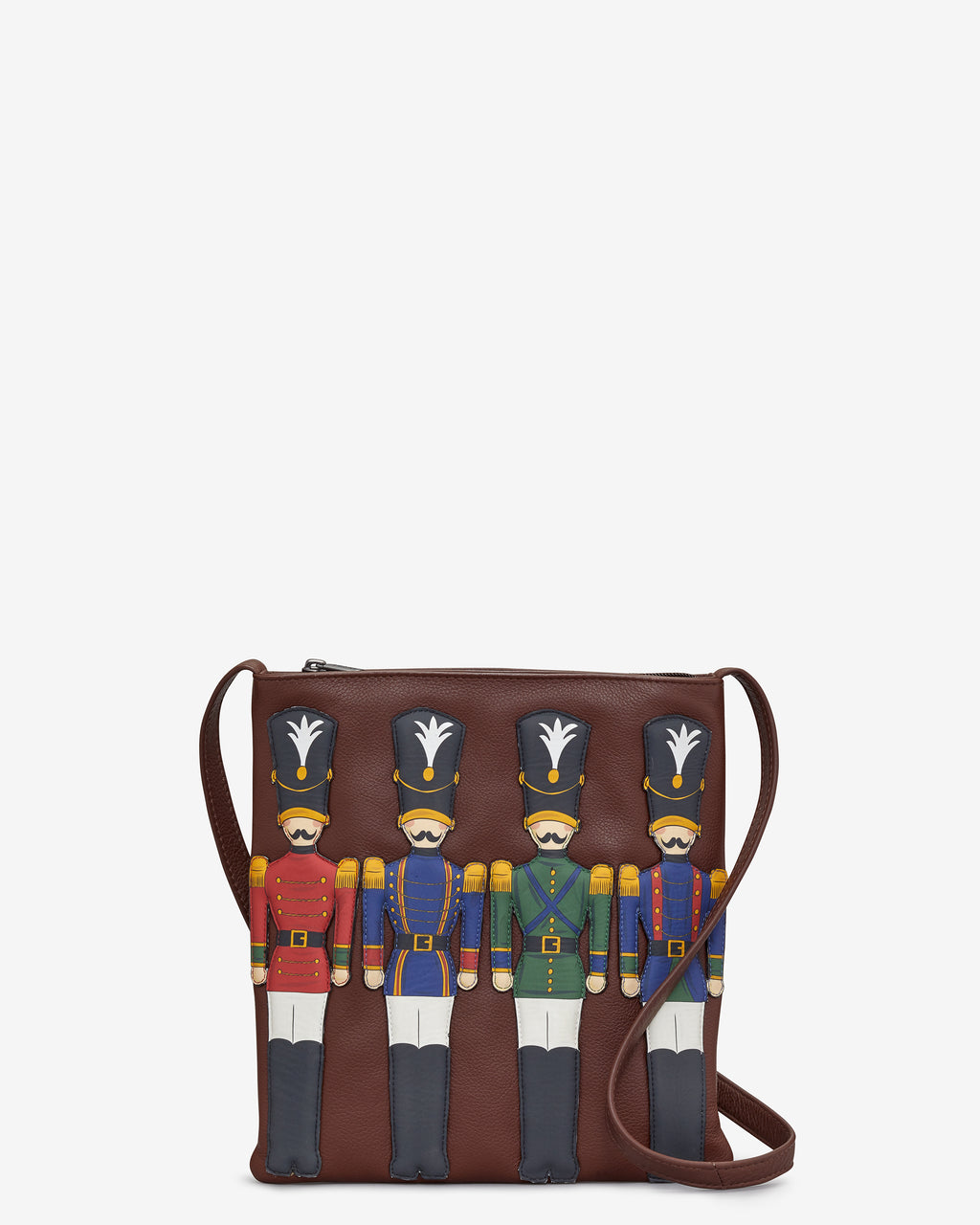Nutcracker Leather Cross Body Bag