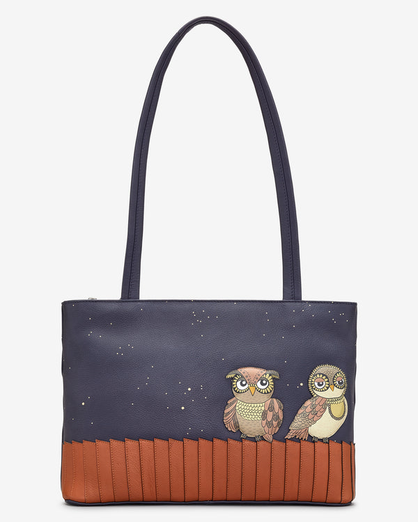 Owl You Need Leather Shoulder Bag