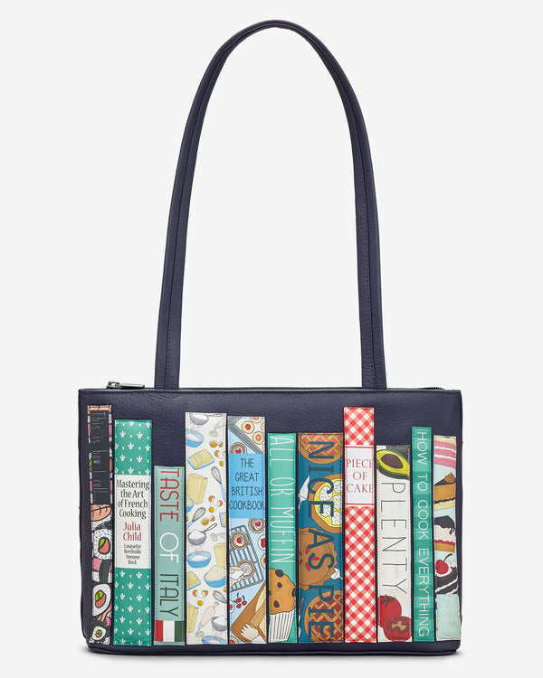 Cook Bookworm Library Leather Shoulder Bag