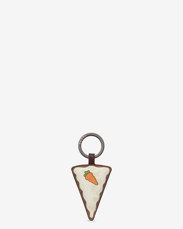 Afternoon Tea Carrot Cake Leather Keyring
