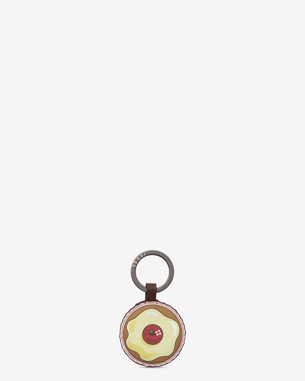 Afternoon Tea Cupcake Leather Keyring