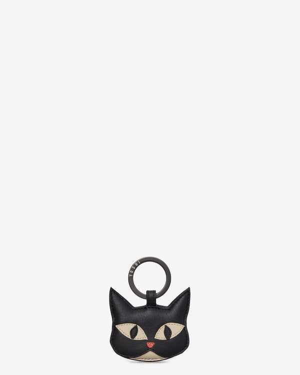 Bruce The Cat Black Leather Keyring