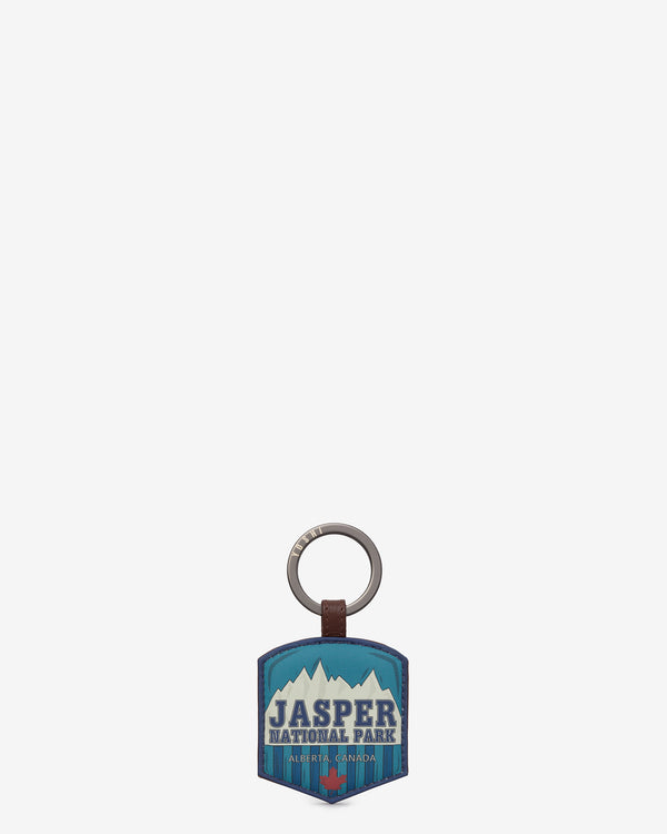 Happy Travels Jasper Leather Keyring