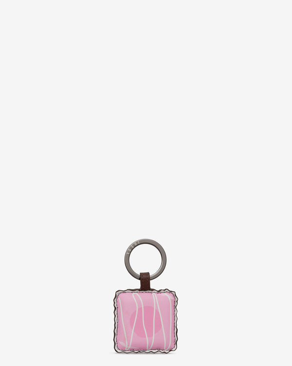 Afternoon Tea Fancy Cake Leather Keyring
