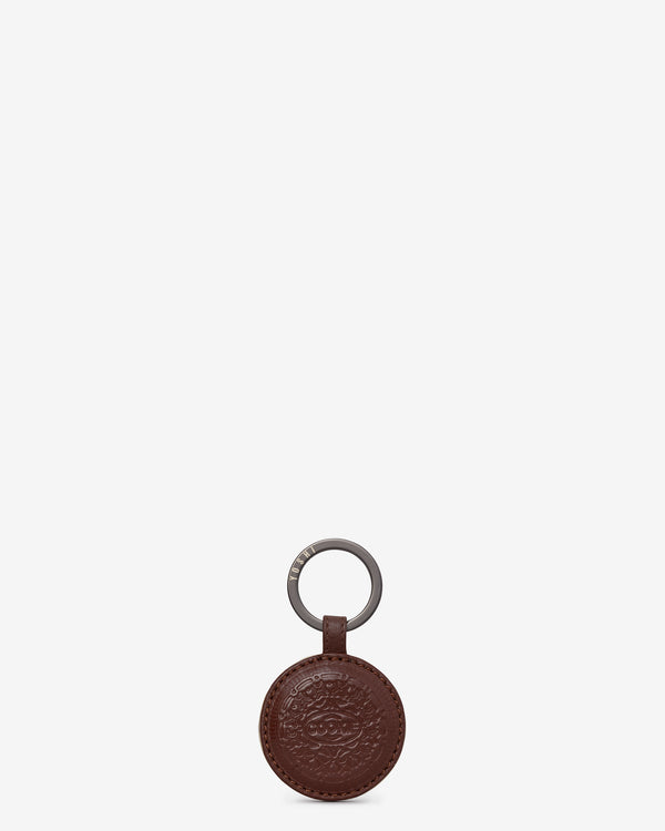 Cookie Biscuit Leather Keyring