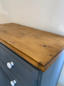 Large Pine Chest of Drawers Hand Painted in Fusion Soapstone - SOLD-furniture-Hugo Interiors & Paint-Hugo Interiors & Paint