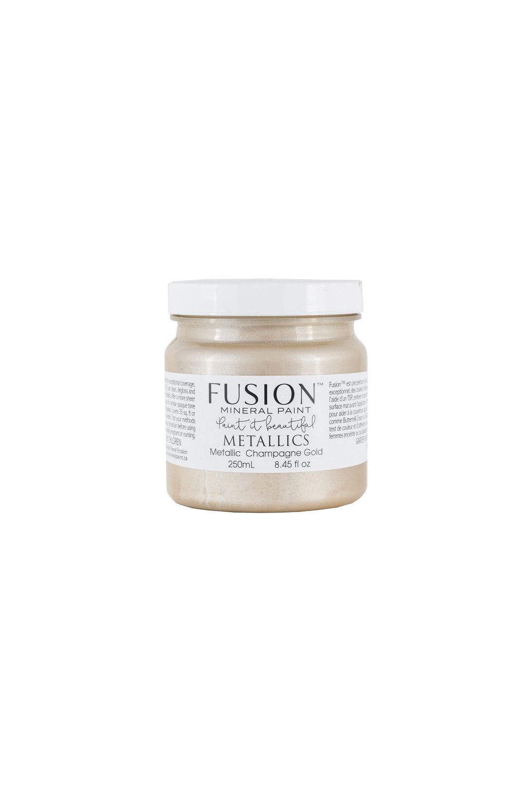 Metallic - Champagne Gold - Fusion Mineral Paint-Metallic Paint-Fusion Mineral Paint-37ml-Hugo Interiors & Paint