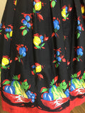Retrospec'd Sophia Dress - Fruit Basket Print Closeup View