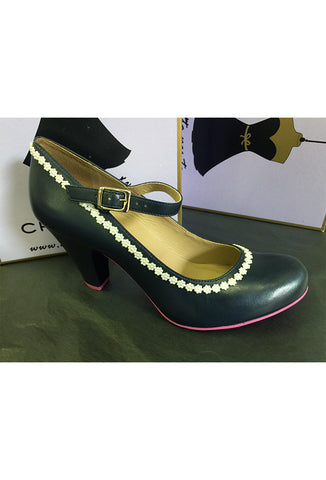 Cristofoli Shoes Daisy Heel - Navy Blue