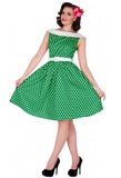 Dolly & Dotty Cindy Dress - Green Front