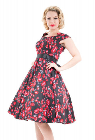 Hearts & Roses Plus Size Rosebud Dress Close Up View