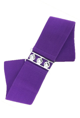 Plus Size Stretch Cinch Belt - Purple Rockabilly Dress Waist Belt