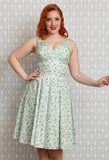 Miss Candyfloss Bellamy Tea Dress Close up Front View