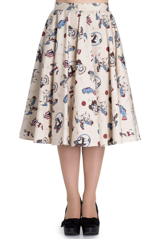 Hell Bunny Circus 50s PinUp Skirt Front