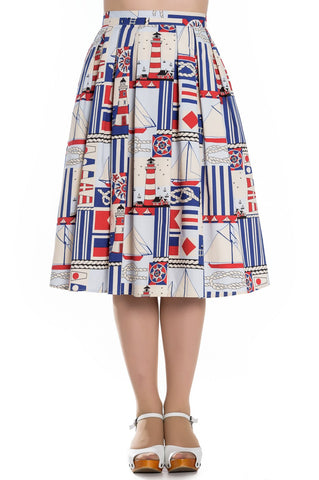 Hell Bunny Lighthouse PinUp Skirt Front