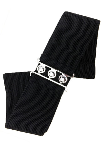 Stretch Cinch Belt - Black (Small-6XL)