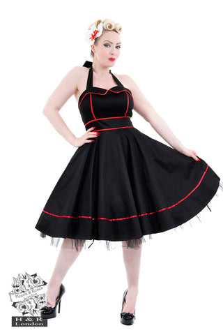 Black Sailors Moon halterneck dress by Hearts & Roses Front View
