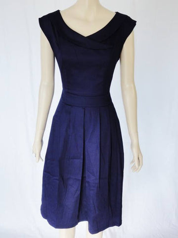 Timeless Classic Calista Dress - Navy Rear View