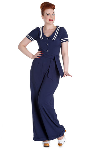 Hell Bunny Ambleside Jumpsuit Front View