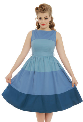 Lindy Bop Audrey Dress - Blue Valentine