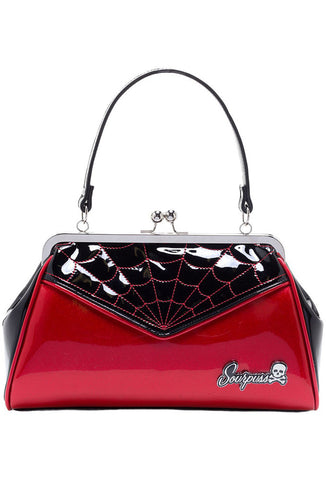 Sourpuss Backseat Baby Purse - Red Front View