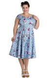 Hell Bunny Belinda 50s Dress Plus Size Model Front View
