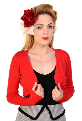Banned Long Sleeve Bolero - Red