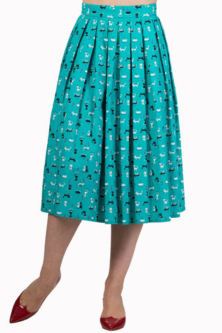 Banned Apparel Bright Lights Cat Skirt