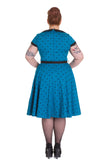 Hell Bunny Brooke Dress Blue Back Plus Size