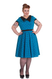 Hell Bunny Brooke Dress Blue Front Plus Size 2