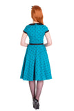 Hell Bunny Brooke Dress Blue Back View