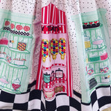Unique Vintage Candy Shop Skirt (Last One! Size Large)