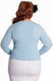 Hell Bunny Carousel Cardigan Plus Size Model Rear View