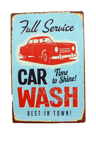 Retro Metal Sign - Full Service Car Wash