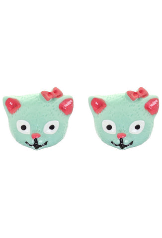 Sourpuss Cat Earrings