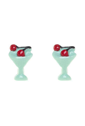 Sourpuss Cherry Martini Earrings