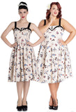 Hell Bunny Circus Dress model with plus size model