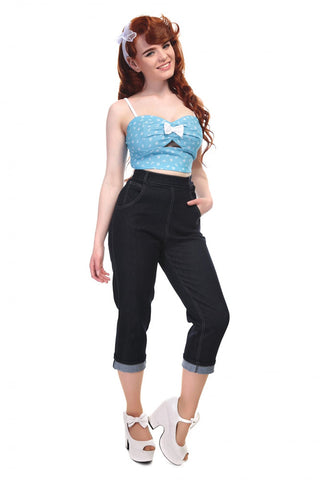 Collectif Coco Denim Capri Pants