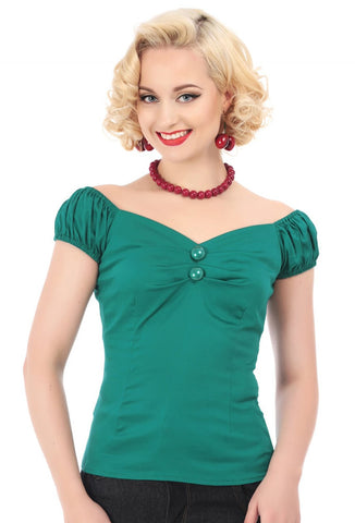 Green Collectif Dolores Top on Model