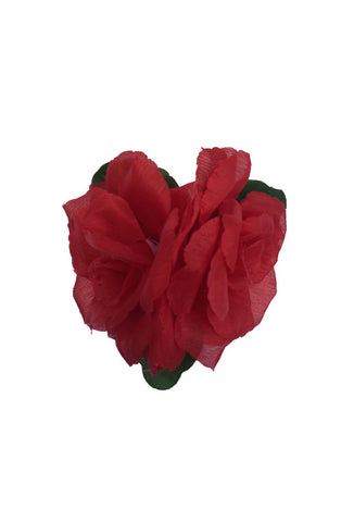 Double Hair Flower - Red