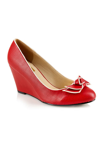 Collectif Elisa Mid Wedge - Red top view