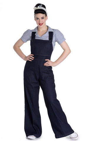 Hell Bunny Emmeline Dungarees Front View