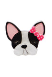 Erstwilder Felicia the Frenchie Brooch Front