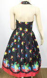 Retrospec'd Sophia Dress - Fruit Basket Print Back View